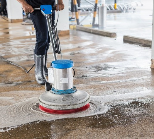Power Washing Parking-lot